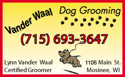 Vander Waal Dog Grooming Services In Mosinee Wausau Wi